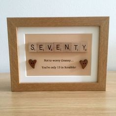 Scrabble Frame Birthday Gift / Present 30th 40th 50th 60th 70th 80th 90th 100th | Other Celebrations & Occasions | Celebrations & Occasions - Zeppy.io