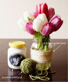 DIY Tulip Arrangement by Harvesting Love Events