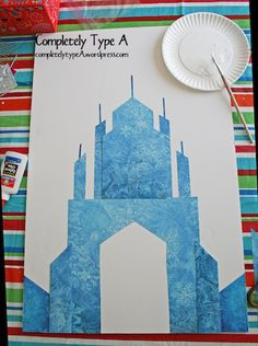 How to make Elsa's Ice Castle from Disney's Frozen.  Free pattern and tutorial.