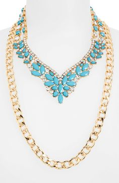 Tildon Floral Rhinestone 3-in-1 Necklace