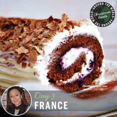 12 Christmas Treats Around the World -- Day3: Bûche de Noël (Yule log cake) from France.