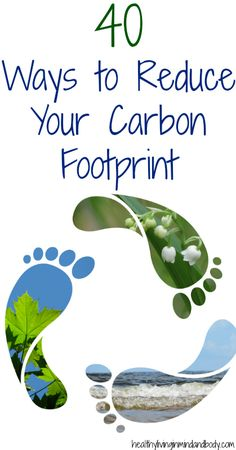 Sustainability also corresponds with reducing carbon footprint. Here are 40 ways to reduce your carbon footprint whether with recycling or using less energy. Green Life, Go Green, Bright Green, Energie Positive, Green Living Tips, Help The Environment, Zero Waste, Reduce Waste, Reduce Reuse