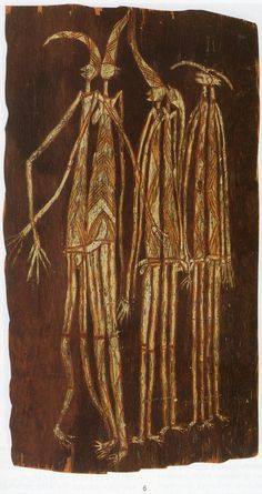The aim of this article is to assist readers in identifying if their bark painting is by Charlie Barramundi. It compares examples of his work. Aboriginal Painting, Aboriginal Artists, Indigenous Australian Art, Indigenous Art, Australian Painting, Aboriginal Culture, Nature Spirits, Art Story, Masks Art