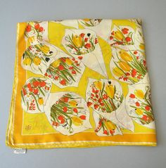 Vera Silk Scarf Summer Bouquets by luola on Etsy
