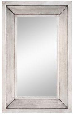 "FineHomeLamps.com - Garner Silver Metal Mirror - 28"" x 44"", $311.00 (http://www.finehomelamps.com/garner-silver-metal-mirror.html)"
