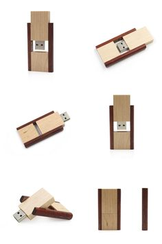 [Visit to Buy] 2017 New Creative Wood Usb Key Rotate Flash Drive 8gb 16gb 32gb 64gb Fun Pen Drive Gift U Disk Real capacity Fast transport #Advertisement