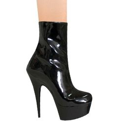 karo shoes Sexy Heels Black Patent with zipper Exotic Dancer Platforms  Sandals  #KaroShoes #boots #Clubwear