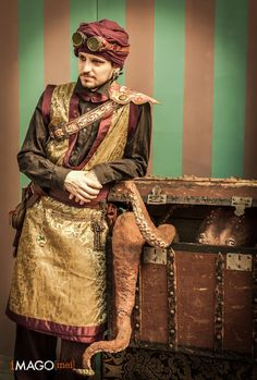 How to create a non-western Steampunk costume. You CAN choose to cosplay as a character outside of Great Britain during the late 1800s. Middle Eastern Steampunk, silkpunk, shanghai steampunk, etc. - For costume tutorials, clothing guide, fashion inspirat