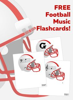 Football Music Flashcards - Download FREE!   In celebration of the release of the new Football Fever piano piece, I wanted to give you some football music flashcards that you can use, especially now as the Super Bowl is coming up!