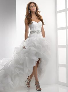 real made sweetheart ruffle chapel train organza wedding gown, short front long back wedding bridal gowns,top selling wedding dresses Unusual Wedding Dresses, Wedding Dress 2013, Wedding Dress Organza, Perfect Wedding Dress, Wedding Dress Styles, Bridal Dresses, Gown Wedding, Ivory Wedding, Prom Dresses