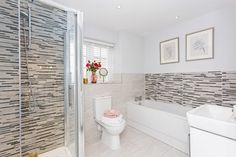 Our newly constructed home has a bathroom suite that dreams are made of. It has a ceramic tiled floors and thermostatic showers with glass screens. Tiled Floors, Flooring, Kings Home, New Homes For Sale, New Builds, Glass Screen, Screens, Luxury Homes, Showers