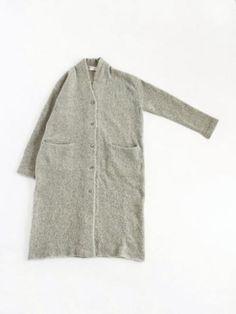 loop yarn long cardigan