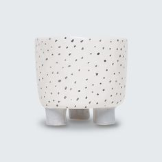 Beautiful hand-built ceramic planter with drainage holes by Katia Carletti.