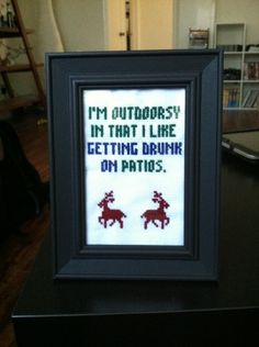 Enough said...this could go with What happens on the patio stays on the patio!!!