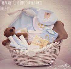 The Really Cute Teddy Baby Basket For Boys es una canasta de regalo boutique para bebé con una serie de sorpres cálidas y tiernas para consentir al recién nacido! Incluye frazada termal, blankie de microfibra, babero con estampado padrísimo, pañaleritos, nuestro teddy vintage y más!  $790 Pesos PARA COMPRAR EN LÍNEA HAZ CLICK AQUÍ  Contacto: lacanasteria@gmail.com