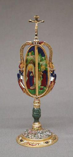 Triptych Date: late 15th century Culture: Italian (Milan) Medium: Gold, enamel, jasper