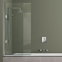 Matki New Single Bath Screen. View more shower and bath screens here: http://www.cphart.co.uk/showers/shower-bath-screens/ #showers #showerscreens #bathrscreens