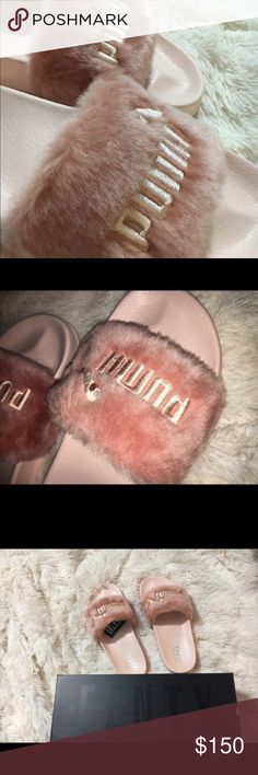 RiRi Fur Fenty Slides Rihanna Fenty Puma Slides  100% Authentic  Pink Size 8.5 ONLY!  ▪️NWT ▪️Deadstock  ▪️Authentic ▪️Velvet Dust Bag included! Puma Shoes Athletic Shoes