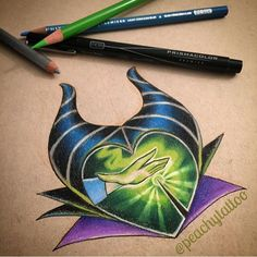 Wonderful Maleficent drawing by @peachytattoo
