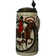 Early 20th Century Mettlach Stein #3168 Signed Hohlwein
