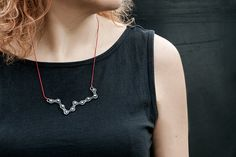 Silver bicycle chain necklace / medium size