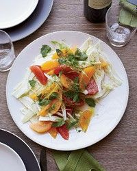 Fennel-and-citrus salad with mint by Matthew Accarrino from Food & Wine Magazine, October 2012
