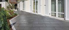 Andalusia Terrassenplatten in anthrazit