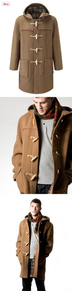 Original Montgomery Mens Wooden Toggles Duffle Coat (48, Camel), Full length classic wool mix duffel coat.     Hand made in England.     Made from the finest Italian cloth from Tuscany.     70% wool and 30% mixed fibres .     Luxury softness.     Fantastic depth of..., #Apparel, #Wool & Blends