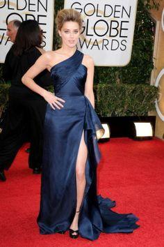 Amber Heard Wearing Atelier Versace at the 2014 Golden Globe Awards
