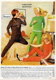 Sears - 1967 60s Fashion Trends, Sixties Fashion, Modern Fashion, Retro Fashion, Vintage Fashion, Nostalgic Images, Vintage Ads, Vintage Style, Evolution Of Fashion