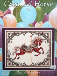 Teresa Wentzler Fall Carousel Horse Vintage Cross Stitch by NeedANeedle, $5.75
