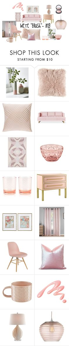 """""""My decor is blushing"""" by rjackson on Polyvore featuring interior, interiors, interior design, home, home decor, interior decorating, Gus* Modern, Fitz & Floyd, Kate Spade and Currey & Company"""
