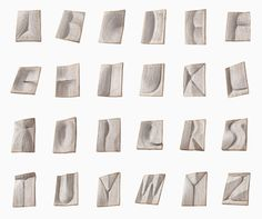 nerhol carves oratorical typeface from layers of japanese books