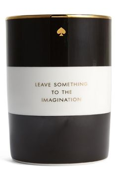 leave something to the imagination | Kate Spade candle.