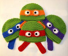 Crochet infantile Hat photo du nouveau-né prop , Crochet Crochet chapeau bébé nouveau-né Tortue Ninja Hat Beanie photo prop Livraison gratuite