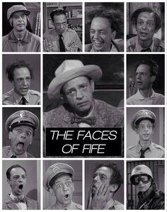 Many faces of Barney Fife.