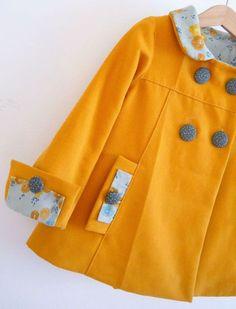 La veste agata de Papillon et Mandarine: canon! Baby Outfits, Little Girl Outfits, Kids Outfits, Baby Girl Fashion, Kids Fashion, Fashion Ideas, Couture Sewing, Sewing Clothes, Mom Clothes