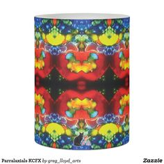 """Parralaxials KCFX Flameless Candle. Light up your life with a beautiful LED Candle that is extraordinarily symmetrical. Similar to the currently trending """"Ikat"""" style, this design blends abstract art, technology and psychedelia in a completely unique fashion. A perfect drishti for your meditation practice. Over 3000 products at my Zazzle online store. Open 24/7 World wide! This design is exclusively @  http://www.zazzle.com/greg_lloyd_arts*?rf=238198296477835081"""