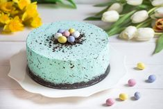 Easter Recipes, My Recipes, Healthy Recipes, Easter Food, Robins Egg, Panna Cotta, Cheesecake, Food And Drink, Menu