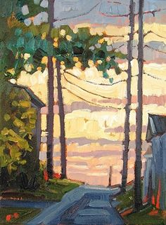 """Morning Alley,"" by Rene Wiley by Rene' Wiley Gallery Oil ~ 12 x 10"