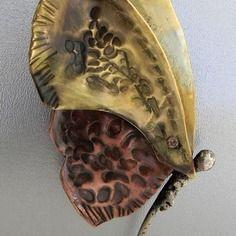 Papillon pendentif broche cuivre laiton  En vente sur : http://www.alittlemarket.com/boutique/alliage_kristin-361375.html