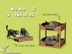 My Sims 3 Blog: Most Viewed - LilyOfTheValley's Two of Us Bunk Beds for Pets and Pet Bowls