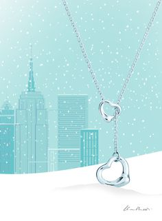 It's a Tiffany holiday. Elsa Peretti® Open Heart lariat in sterling silver.