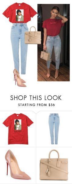 """Untitled #167"" by zivapersonalshopping on Polyvore featuring Topshop, Christian Louboutin and Yves Saint Laurent"