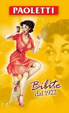 Vintage Italian Posters ~ Paoletti bibite #biere #jetudielacom