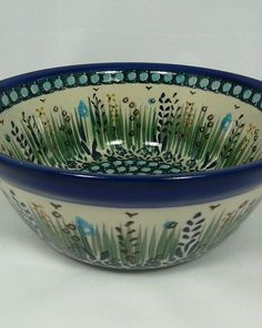 Ceramika Artystyczna painted Polish pottery bowl , handmade in Boleslawiec, Poland   This is so gorgeous!