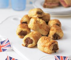 selection of puff pastry sausage rolls arranged on a plate Asda Recipes, Ham Recipes, Cooking Recipes, Butter Puff Pastry, Savoury Baking, Sausage Rolls, Picnic Foods, Tray Bakes, Quick Easy Meals