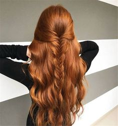 Best And Amazing Red Hair Color And Styles To Create This Summer; Red Hair Color And Style; Giner And Red Hair Color; Ginger Hair Color, Red Hair Color, Hair Colors, Color Red, Ginger Brown Hair, Purple Hair, Grunge Hair, Hair Dos, Pretty Hairstyles