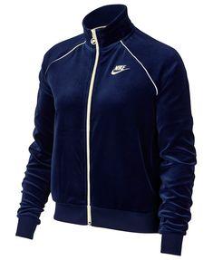 Nike Sportswear Velour Track Jacket - Jackets - Women - Macy s Chaqueta De  Chándal Nike 82ba34b16248c