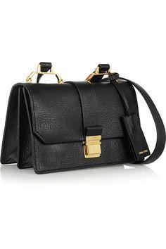 Miu Miu Madras textured-leather shoulder bag NET-A-PORTER.COM